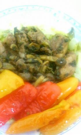 鶏のバルサミコ焼と温野菜