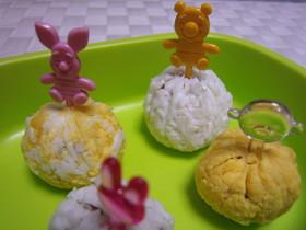 お弁当に♡白と黄色のミートボール♡