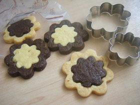 可愛い型抜きクッキー*お花畑ver.