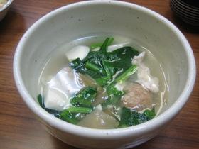 ザーサイと豆腐ささ身のスープ