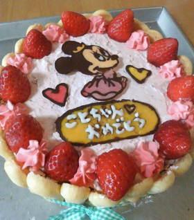 キャラケーキ(ミニーちゃん)