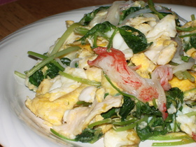 三つ葉たっぷり卵の炒め物♡