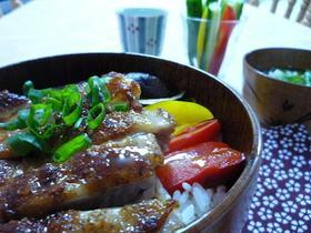 鶏肉の野菜丼