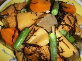 筍と厚揚げ入りひじき煮(高血圧)