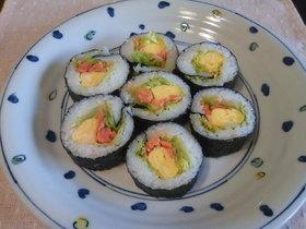 焼き鮭のサラダ巻き