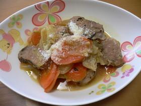 塩豚と野菜のオリーブオイル蒸し