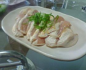 簡単1品♪ヘルシー★鶏のタタキ★