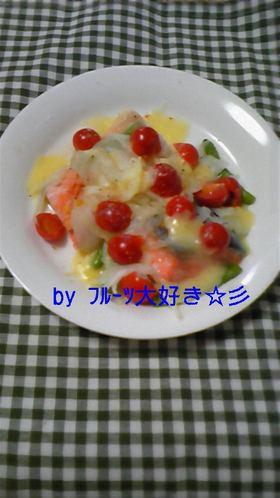 ノンオイル♪鮭の新たまねぎチーズ焼き