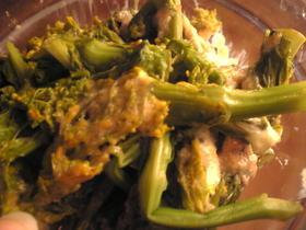 菜の花と明太子のマヨネーズ和え