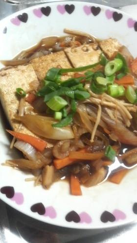 ヘルシー★玉葱&きのこの焼き豆腐ステーキ