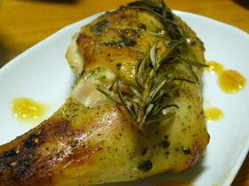 鶏骨付きモモ肉のハーブ焼き