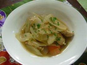 鶏肉と牛蒡の煮物