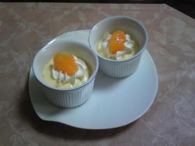 アガーでオレンジ&柚子のムース