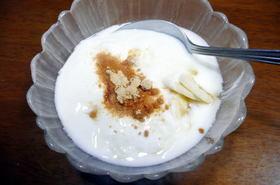バナナきな粉ヨーグルト