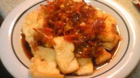 簡単 豆腐ステーキさくらエビソース