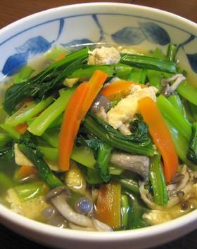 ダシがしみてウマイ。小松菜の煮浸し