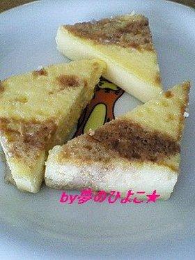 牛乳豆腐からアラ!マーブルチーズケーキ