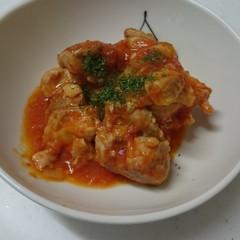 絶品☆母の自慢のチキンのトマト煮