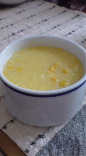 とろりんコーンたまごスープ
