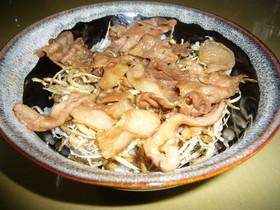 パリパリごぼうの豚丼