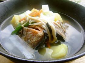 全部食べきるエコレシピ★鮭のアラの三平汁
