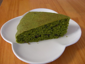 超簡単ホットケーキミックスで抹茶ケーキ