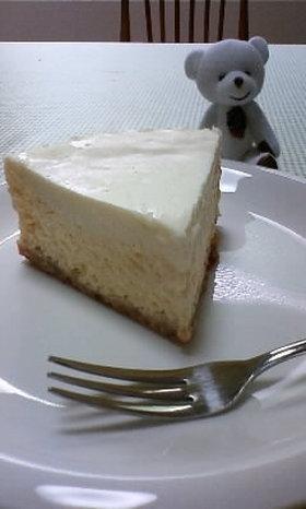 2層のクリームチーズケーキ②