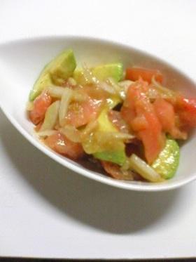 アボカド×トマト×サーモンのサラダ