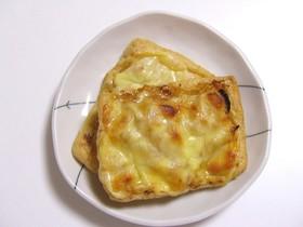 新たまねぎ味噌de油揚げピザ☆彡