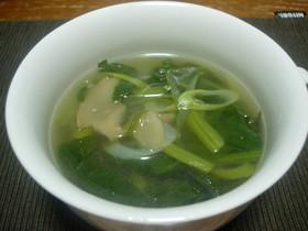 ほうれん草とザーサイのスープ