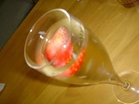 イチゴ風味の白ワイン