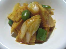新玉ねぎと竹の子の焼肉たれ炒め