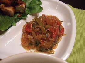 トマトと春雨の炒め煮