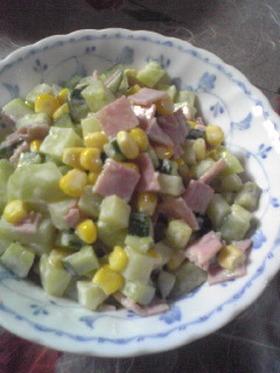 ポテトとキュウリのコロコロサラダ