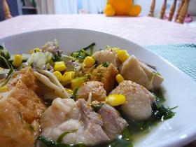 鶏肉と白菜と水菜の具沢山汁
