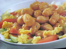 あられ豆腐とタマゴのフレッシュ♡サラダ