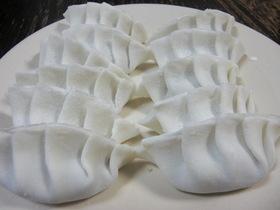 ヒダの作れる柔らか米粉の餃子の皮