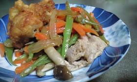豚肉といんげんいっぱい炒め
