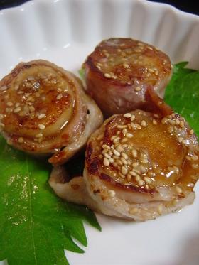 豚バラ肉巻き長芋ステーキ