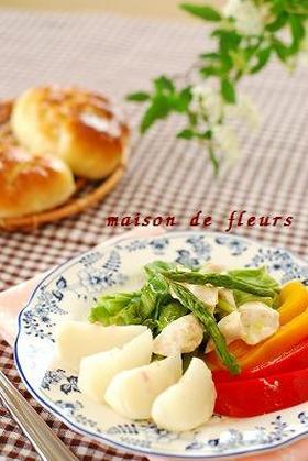 春キャベツの蒸し温野菜サラダ