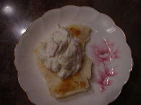 クリームチーズ風☆withハムと玉ねぎ