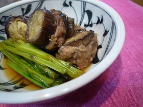 ナスとひき肉のはさみ煮