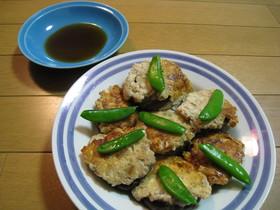 ★しいたけの豆腐バーグ詰め 蒸し焼き