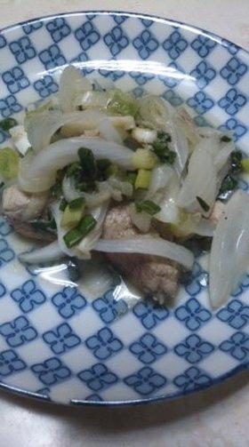 豚ヒレ肉のネギタマ炒め
