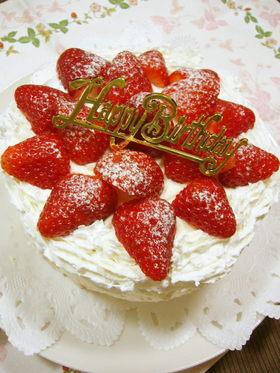 基本のスポンジで♡手作りケーキ