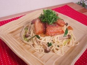 豚肉のガッツリパスタ 柚子コショウ仕立て