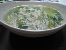 簡単!! しゃきしゃきレタスの帆立スープ