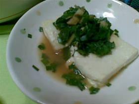 豆腐ステーキ☆にらソース