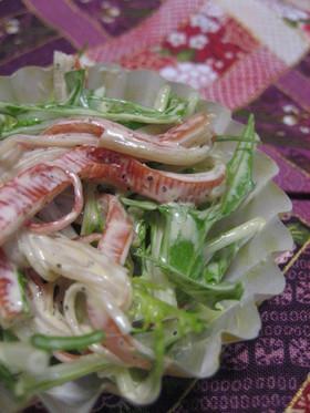 お弁当に♪カニカマみず菜サラダ