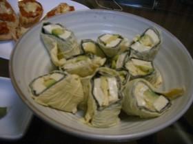 アボカド&豆腐の湯葉巻き